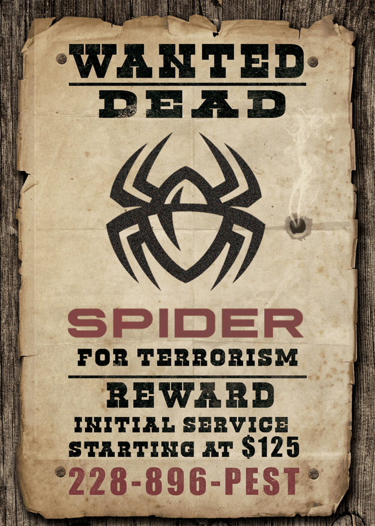 Spider Wanted Poster